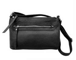 Roma 7013 Compact Leather Concealment Clutch - Locking Concealed Carry Purse