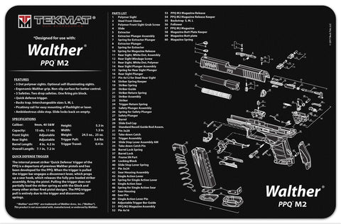Walther® PPQ M2 Cleaning Mat