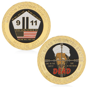 Seal Team Six Commemorative Gold Plated Coin