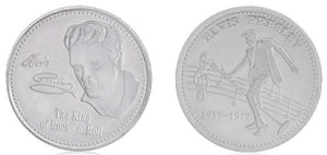 Commemorative Silver Plated Elvis Presley Coin