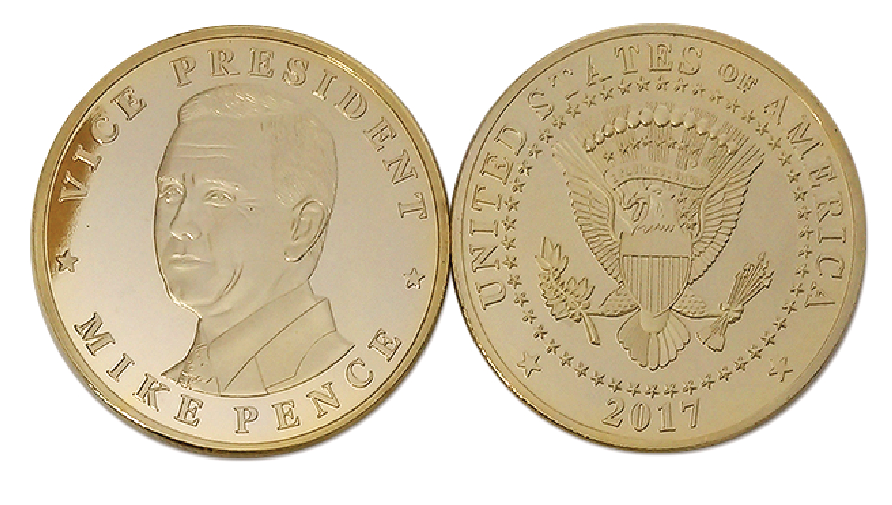 Commemorative Mike Pence Gold Coin