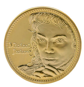 Commemorative Michael Jackson Gold Plated Coin