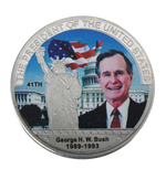 Load image into Gallery viewer, Commemorative George H. W. Bush Silver & Colored Coin