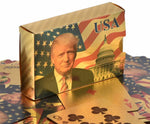 Load image into Gallery viewer, Donald Trump Gold Playing Cards