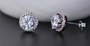 Victoria Diamond Veneer Sterling Silver Earrings