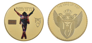 Commemorative Michael Jackson Gold & Colored Coin