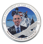 Load image into Gallery viewer, Commemorative Barack Obama Silver & Colored Coin