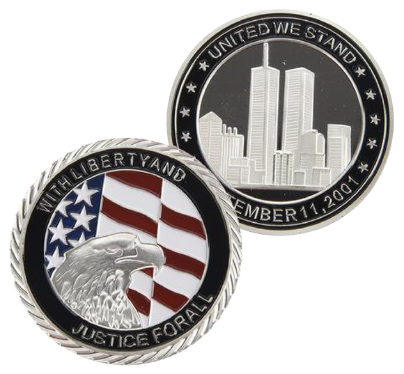 9/11 Commemorative Silver Plated Coin