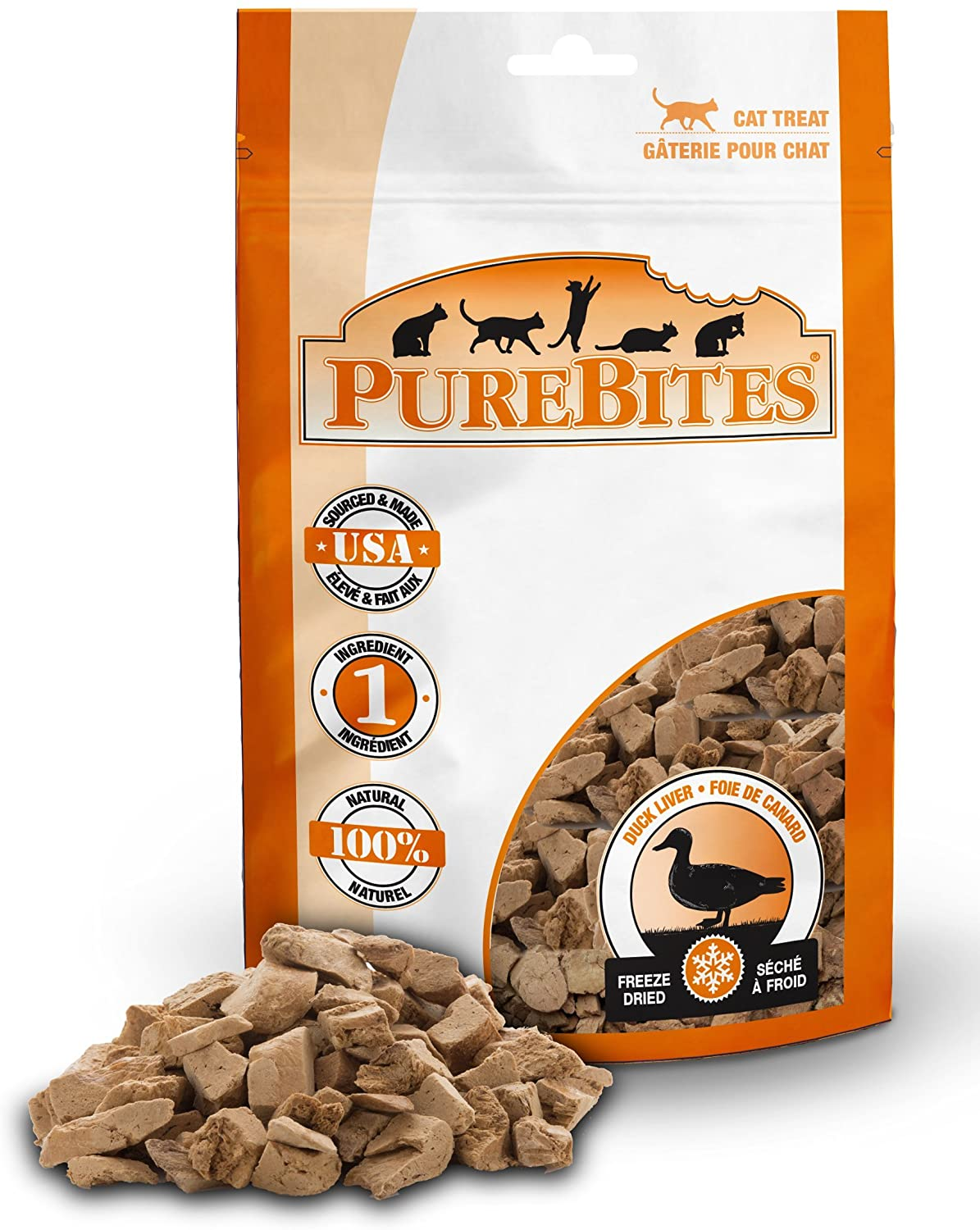 PureBites Duck Liver Freeze-Dried Raw Treats