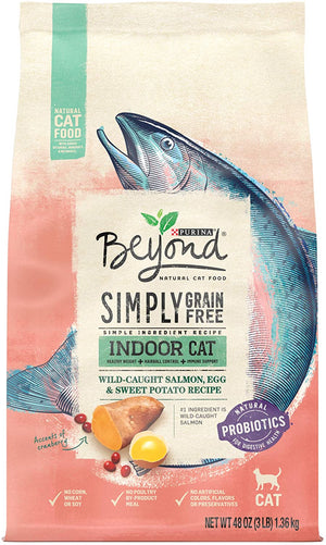 Beyond Simply Indoor Grain-Free Wild-Caught Salmon, Egg & Sweet Potato