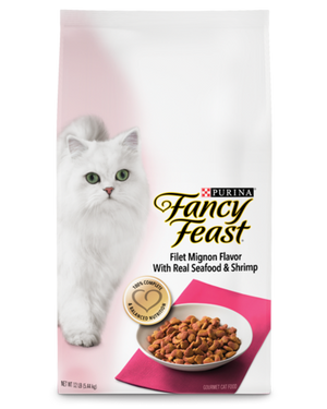 Fancy Feast Gourmet Filet Mignon Flavor with Real Seafood & Shrimp