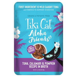 Tiki Cat Aloha Friends Tuna with Calamari & Pumpkin