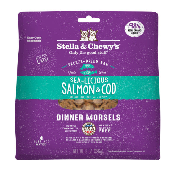 Sea-licious Salmon & Cod Freeze-Dried Raw Dinner Morsels