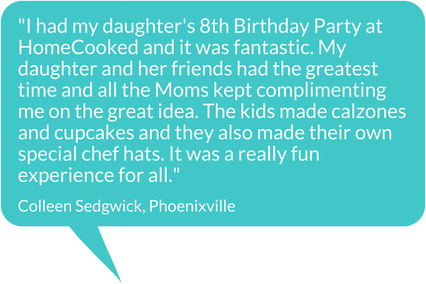 HomeCooked Party Testimonial - Colleen Sedgwick, Phoenixville