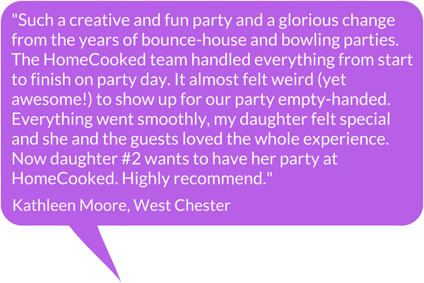 HomeCooked Party Testimonial - Kathleen Moore, West Chester