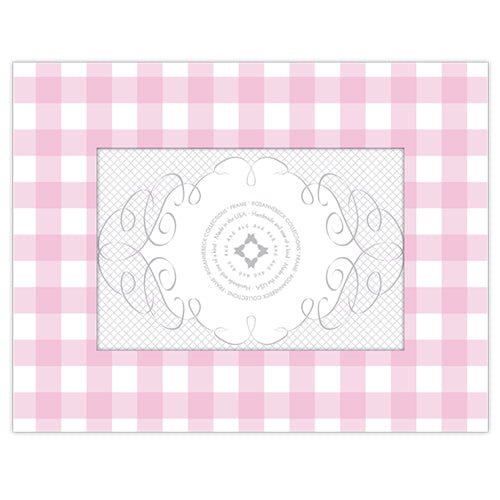 Light Pink Gingham 4x6 Frame