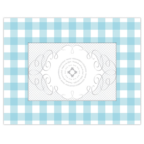 Light Blue Gingham 4x6 Frame
