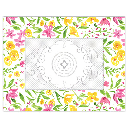 Yellow and Pink Floral 4x6 Frame