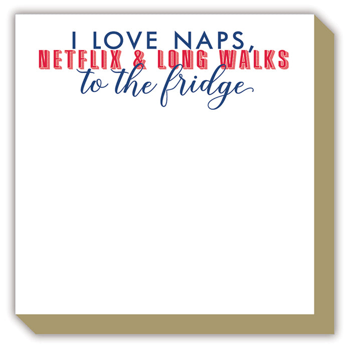 I Love Naps, Netflix Luxe Notepad