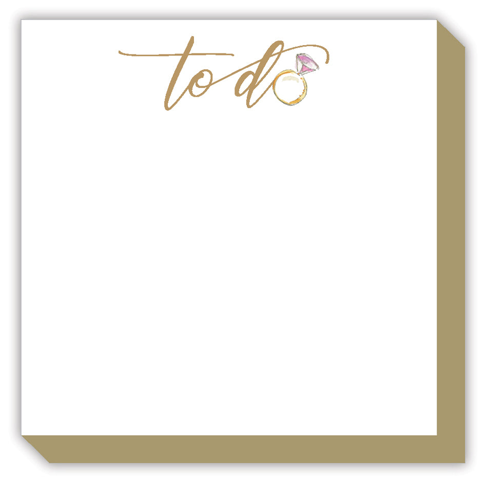 To Do Engagement Ring Luxe Notepad