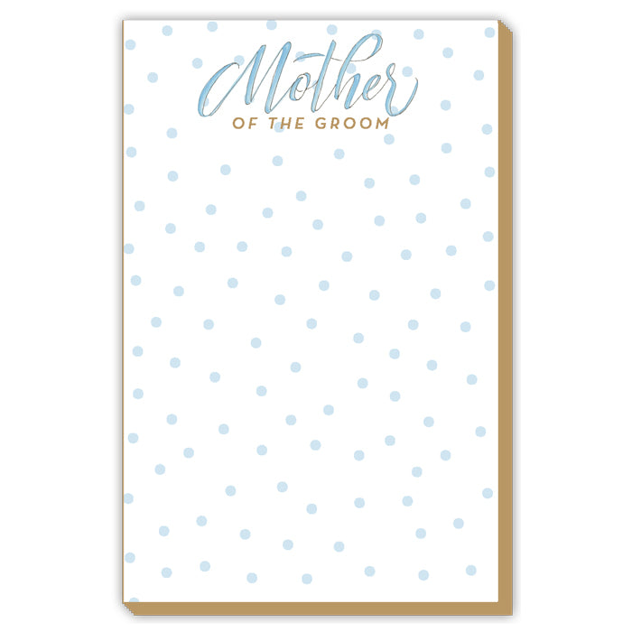 Mother Of The Groom Blue Dots Luxe Large Pad