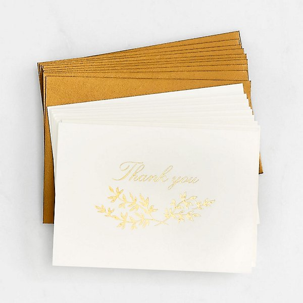Paper Source Golden Bough Thank You Card Set