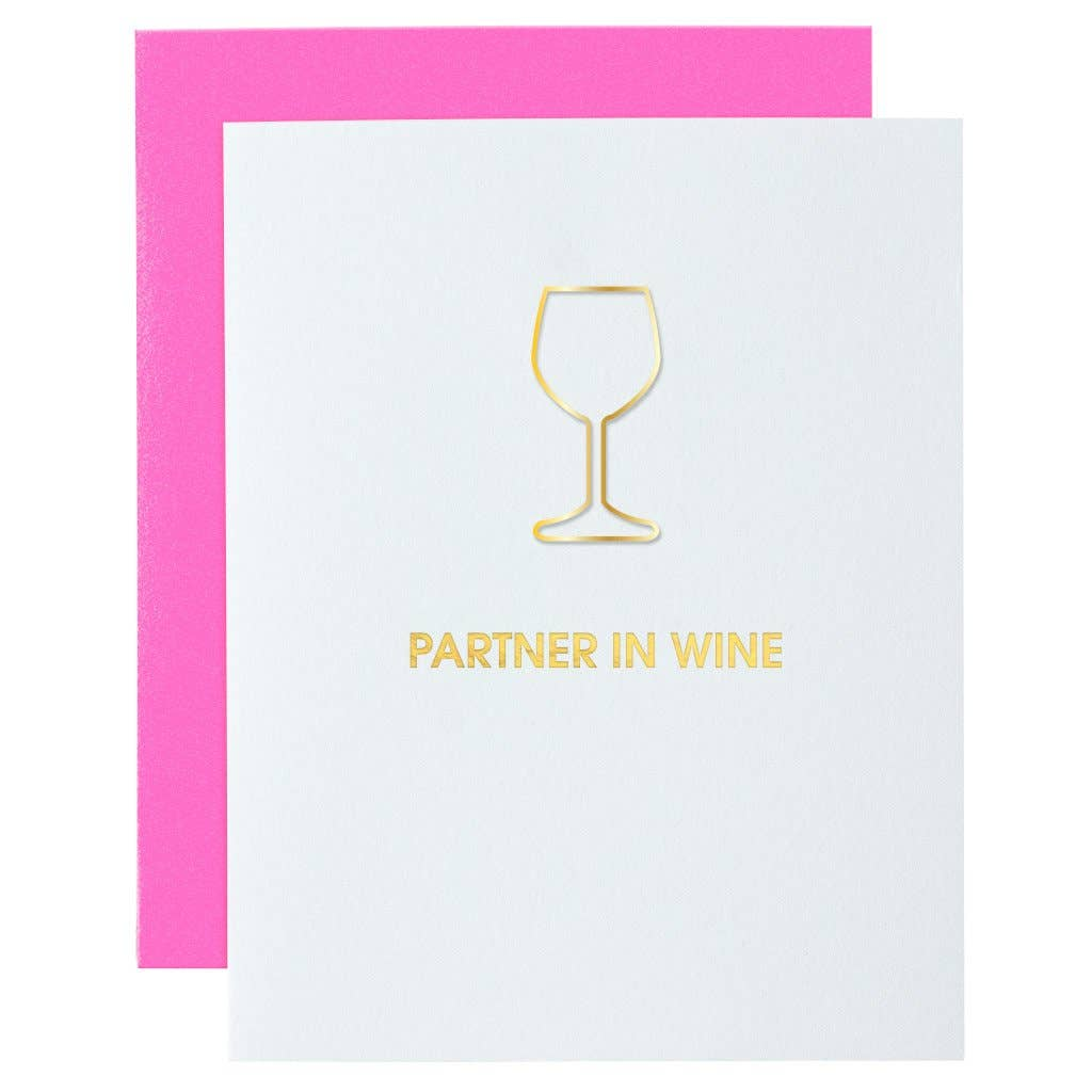 Partner in Wine Paper Clip Greeting Card