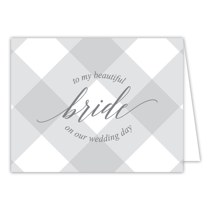 Grey Buffalo Check-Bride Greeting Card