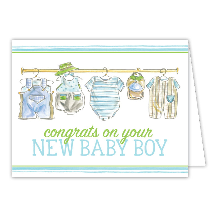 Congrats On Your New Baby Boy Greeting Card
