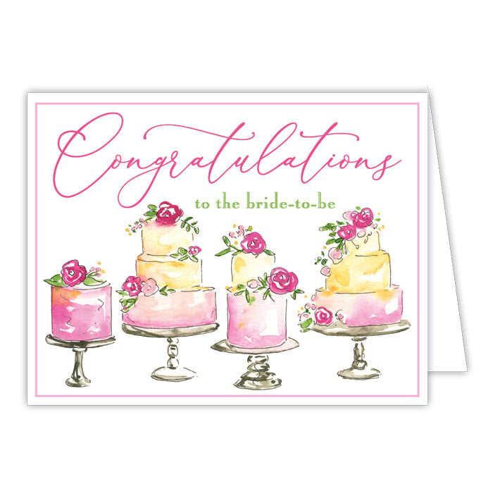 Congratulations To The Bride Greeting Card