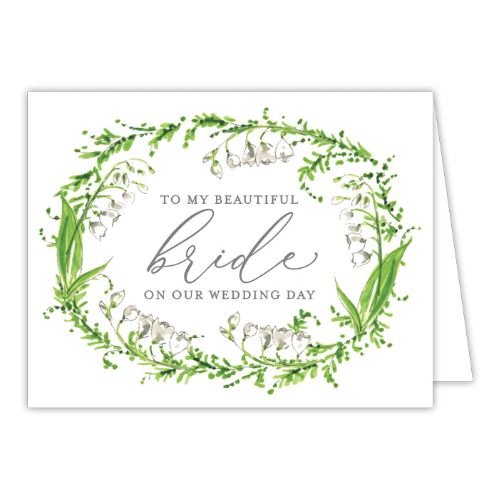 Wedding Greenery Wreath Bride Greeting Card