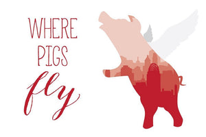 Pigs Fly Postcard