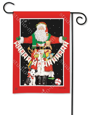 Santa Greetings Garden Flag