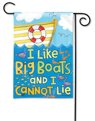Big Boats Garden Flag