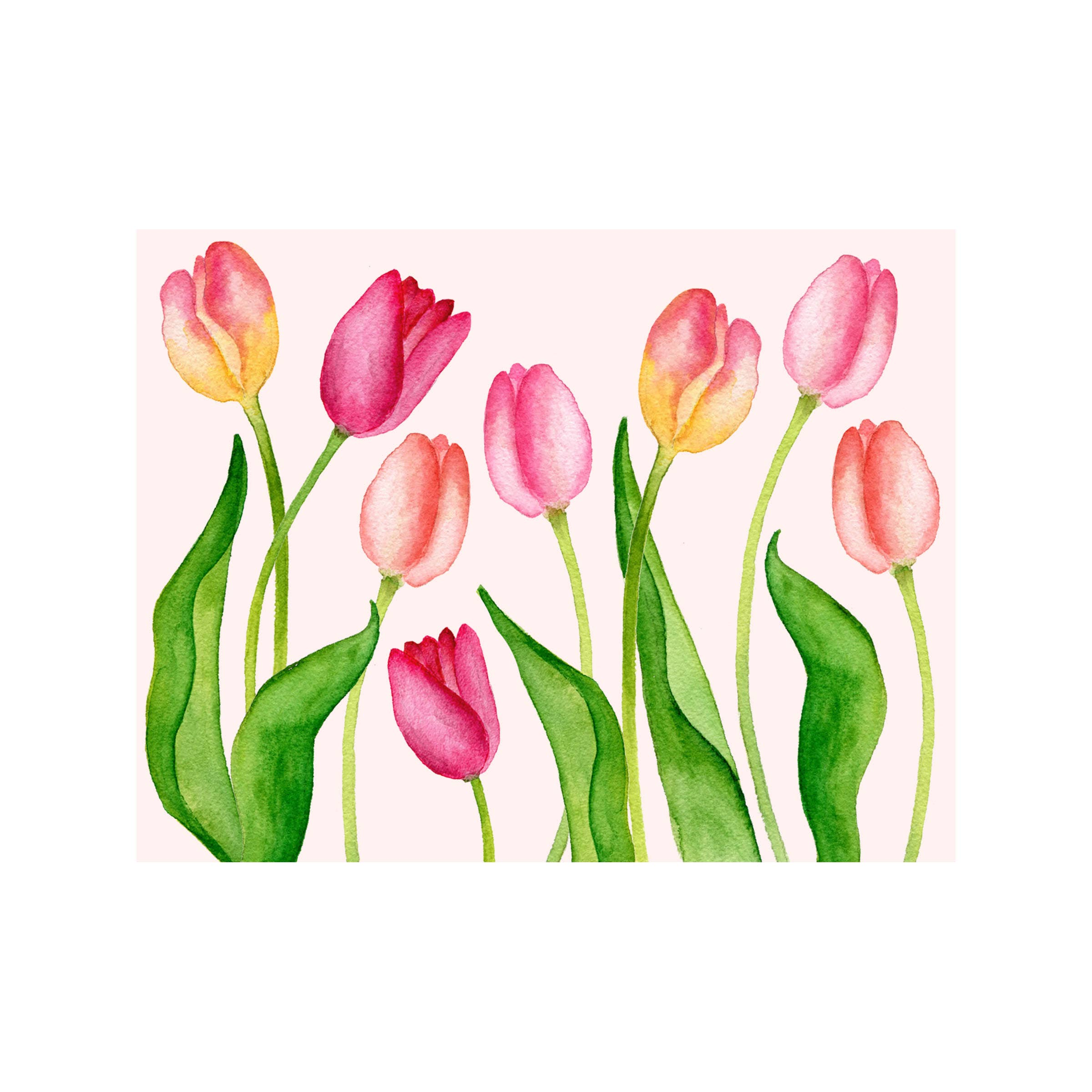 Tulip Floral Folded Note Card