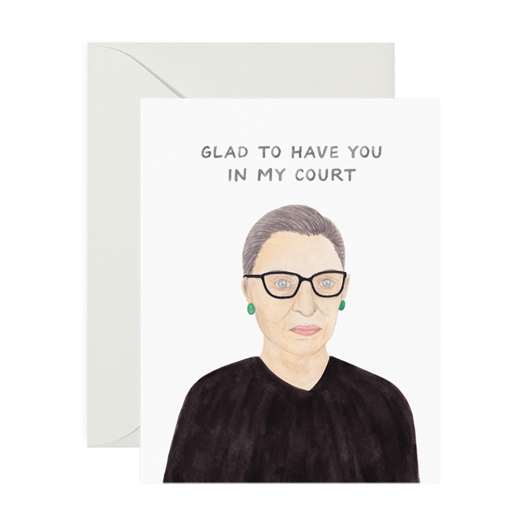 RBG In My Court Greeting Card