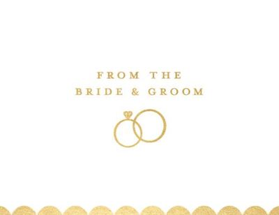 Bride And Groom Rings Notecard