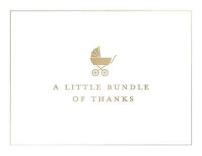 A Little Bundle Of Thanks Notecard