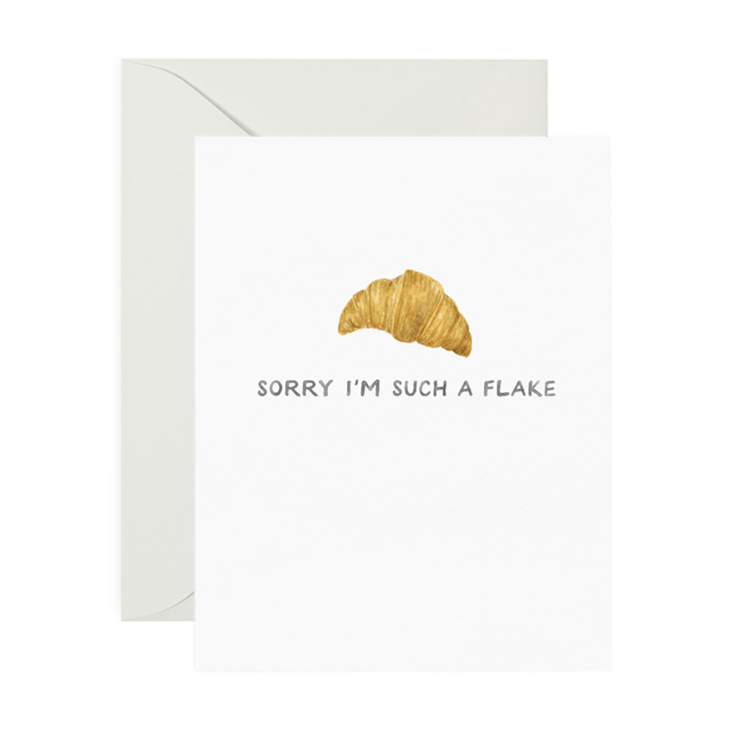 Flaky Sorry Greeting Card