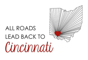 All Road Cincinnati Postcard