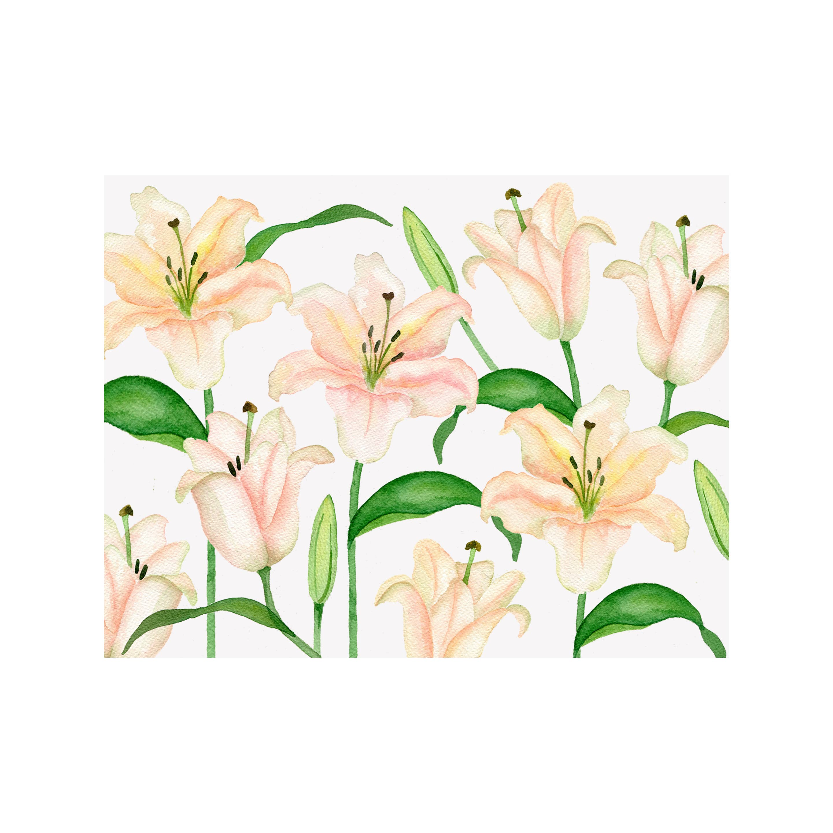 Lily Floral Folded Note Card