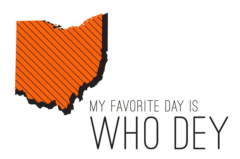 Who Dey Postcard