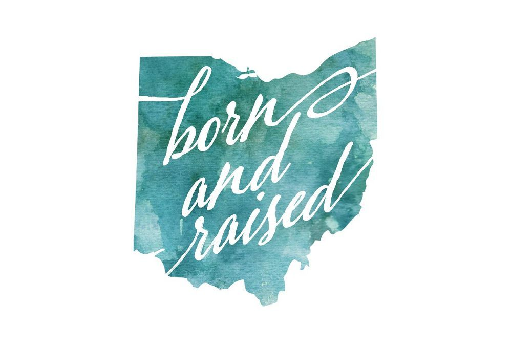 Ohio Born & Raised Postcard