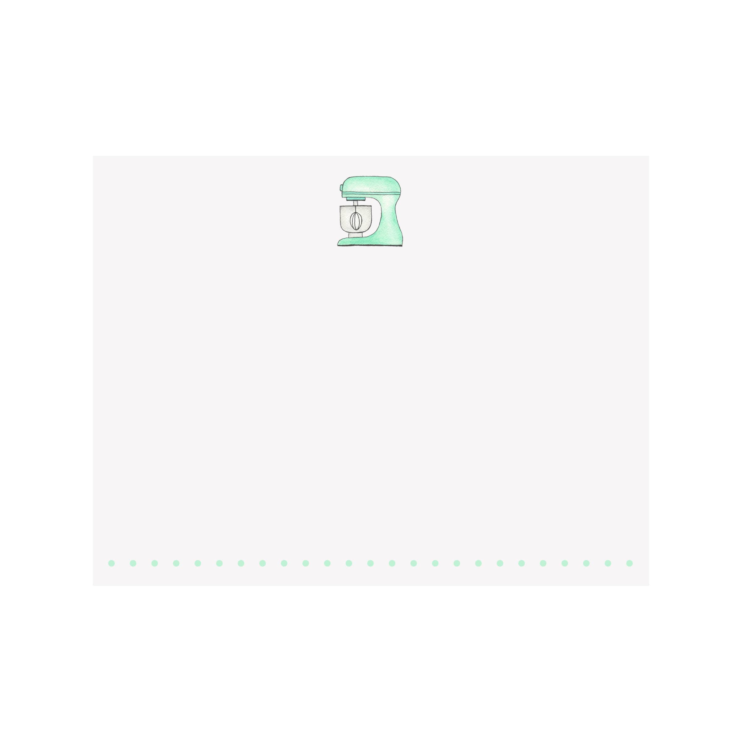 Kitchen Mixer Flat Note Card