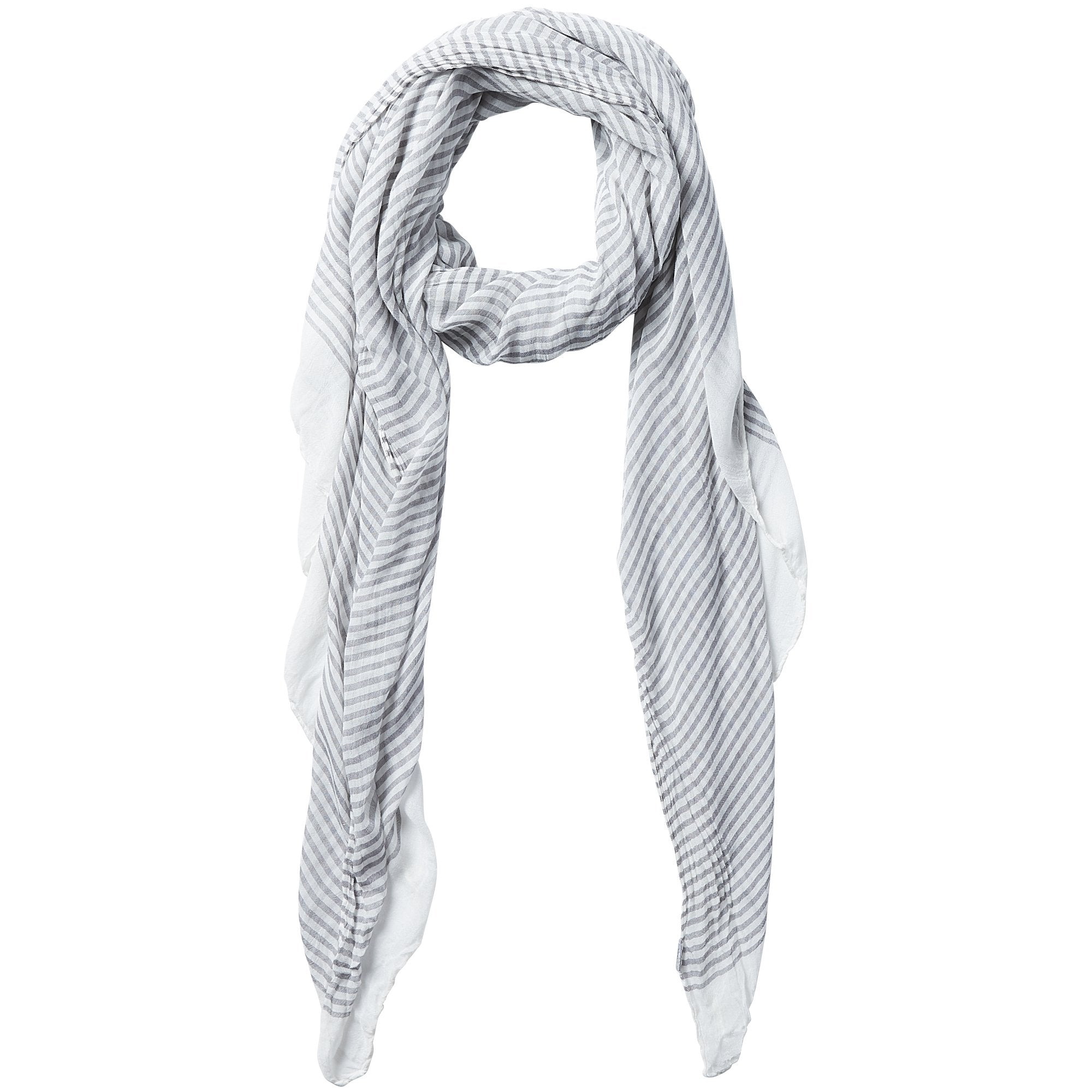 Insect Shield Scarf - Gray Tiny Stripe