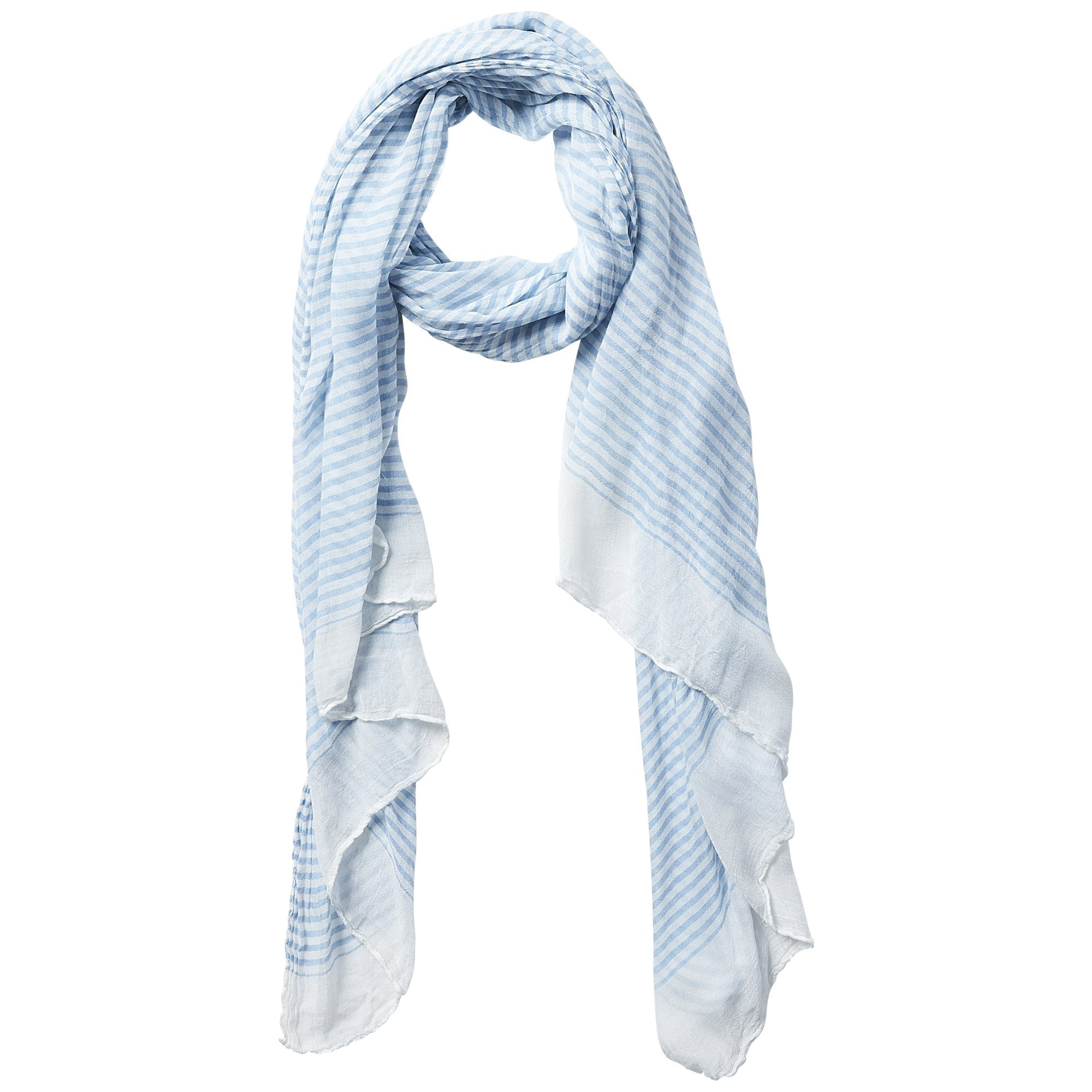Insect Repellent Scarf - Blue Tiny Stripe