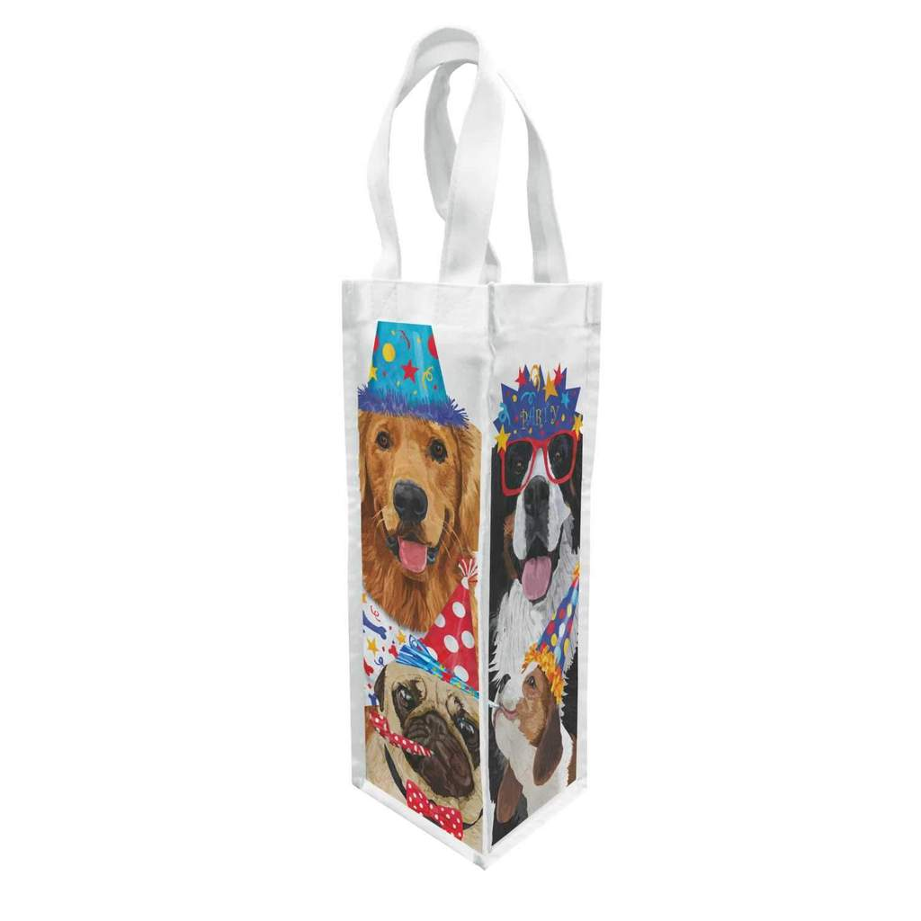 Party Pooches Canvas Bottle Bag