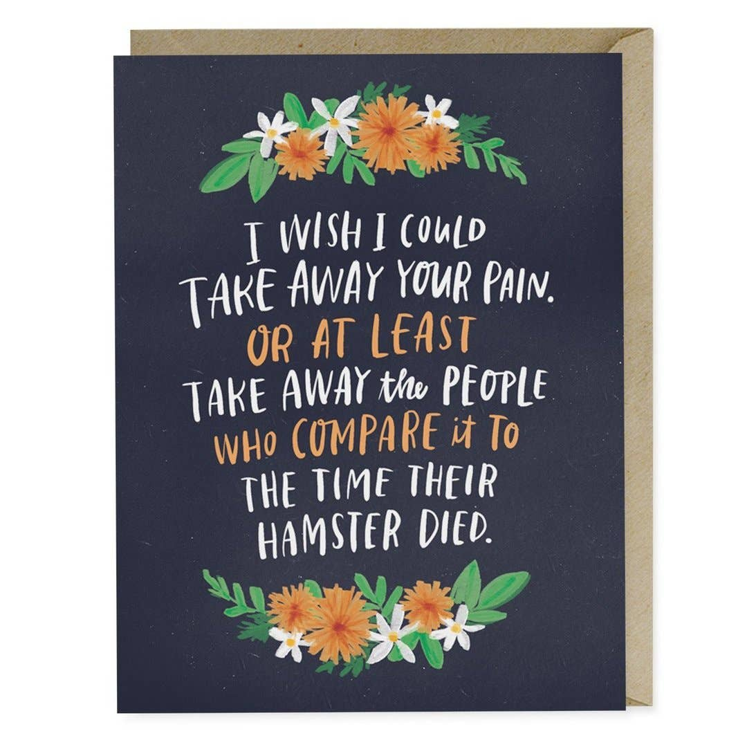 Take Away Your Pain Empathy Greeting Card