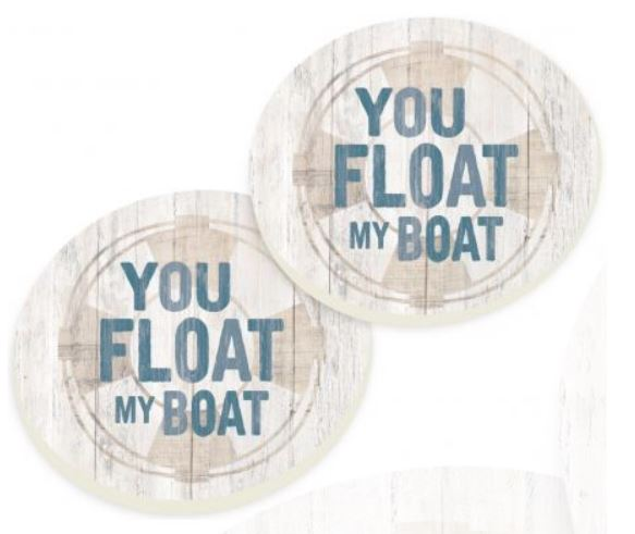 You Float My Boat Car Coaster Pack