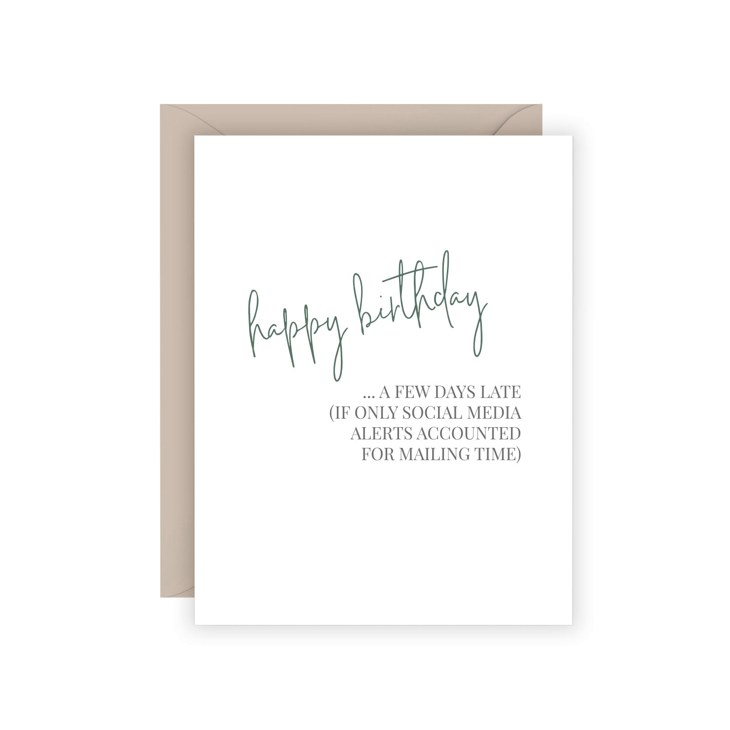 Social Media Birthday Greeting Card